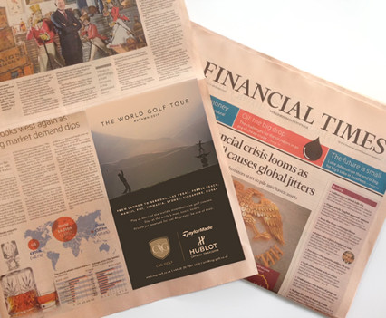 Ad design for Financial Times.