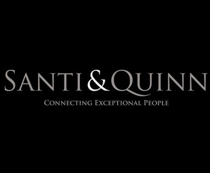 branding design for Santi & Quinn matchmaking company.