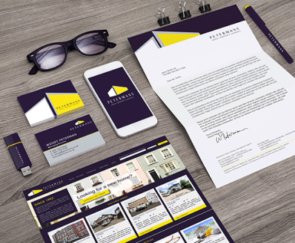 rebranding logo design, business cards