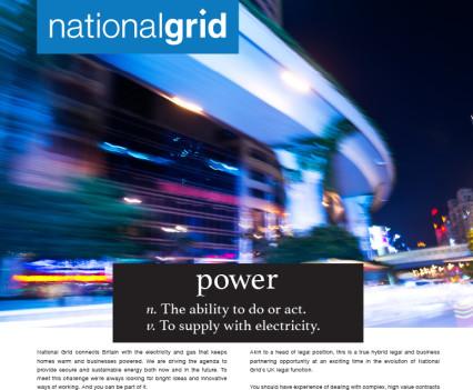 copywriting National grid