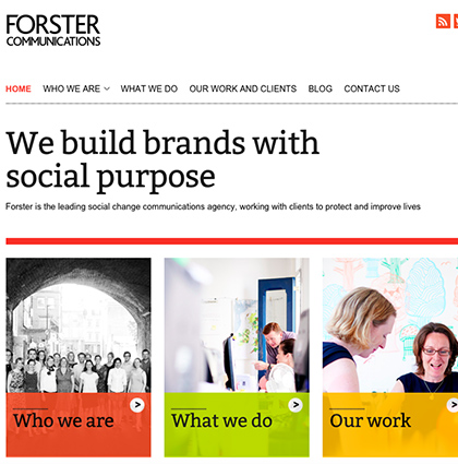 Copywriting and case studies for Forster Communications